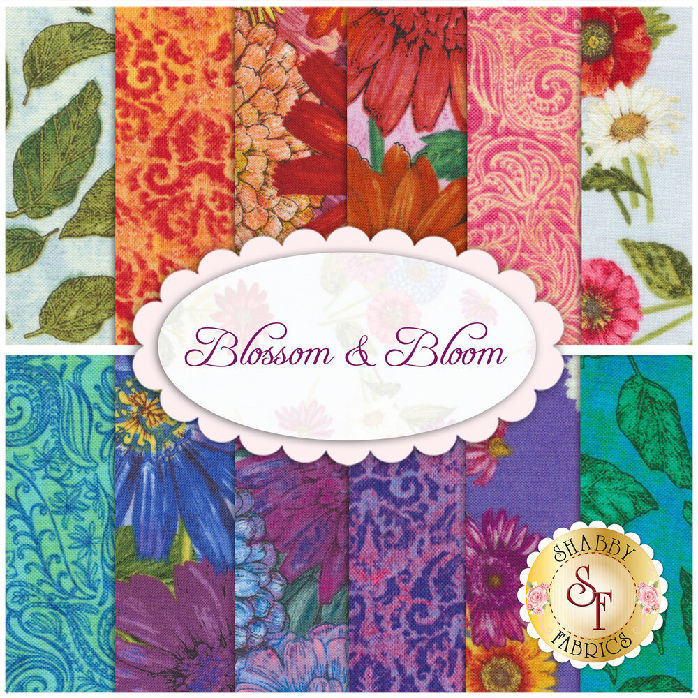 Blossom & Bloom  12 FQ Set Available at Shabby Fabrics