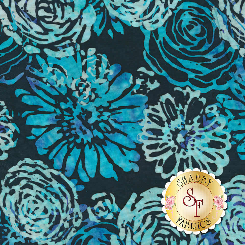 Blossom Batiks Splash 3503-001 Bouquet Bluebird by Flaurie & Finch for RJR Fabrics