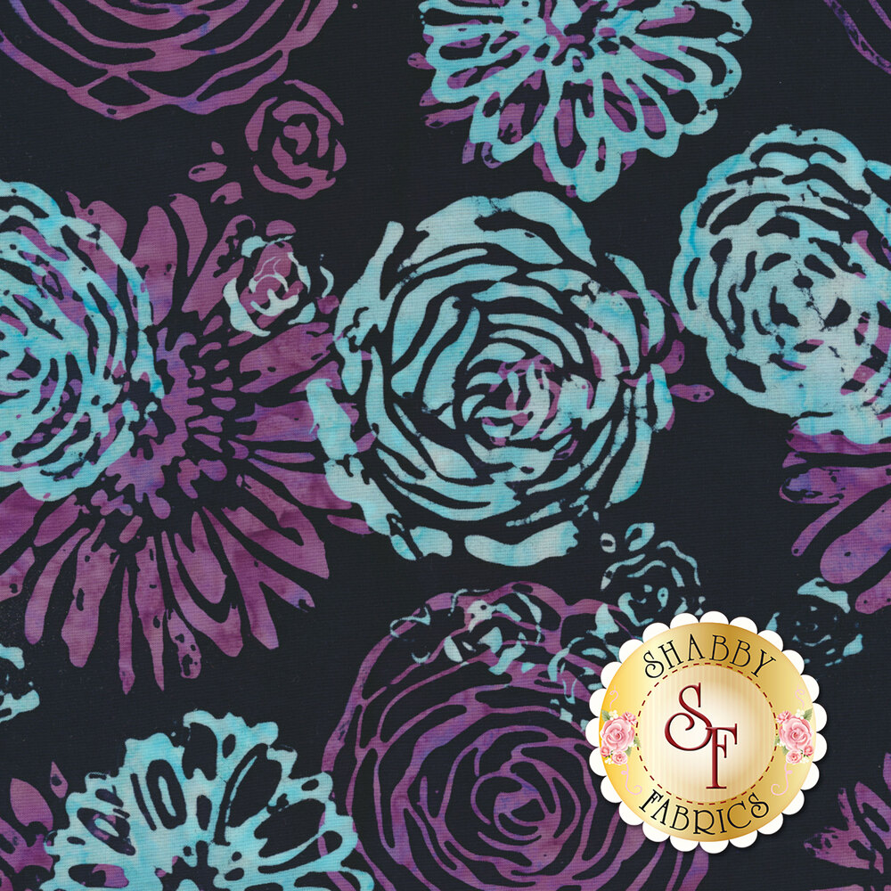 Blossom Batiks Splash 3503-002 Bouquet Amethyst by Flaurie & Finch for RJR Fabrics