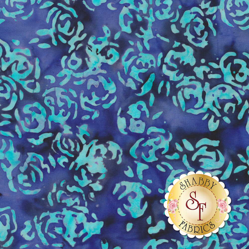 Blossom Batiks Splash 3507-003 Lagoon by Flaurie & Finch for RJR Fabrics