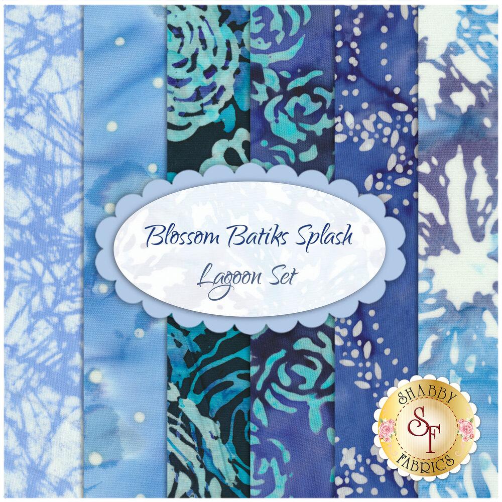 Blossom Batiks Splash  6 FQ Set - Lagoon Set by RJR Fabrics