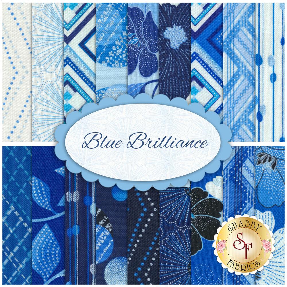 Blue Brilliance  18 FQ Set by Benartex Fabrics