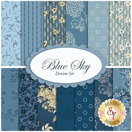 Blue Sky  13 FQ Set - Denim Set by Edyta Sitar for Andover Fabrics