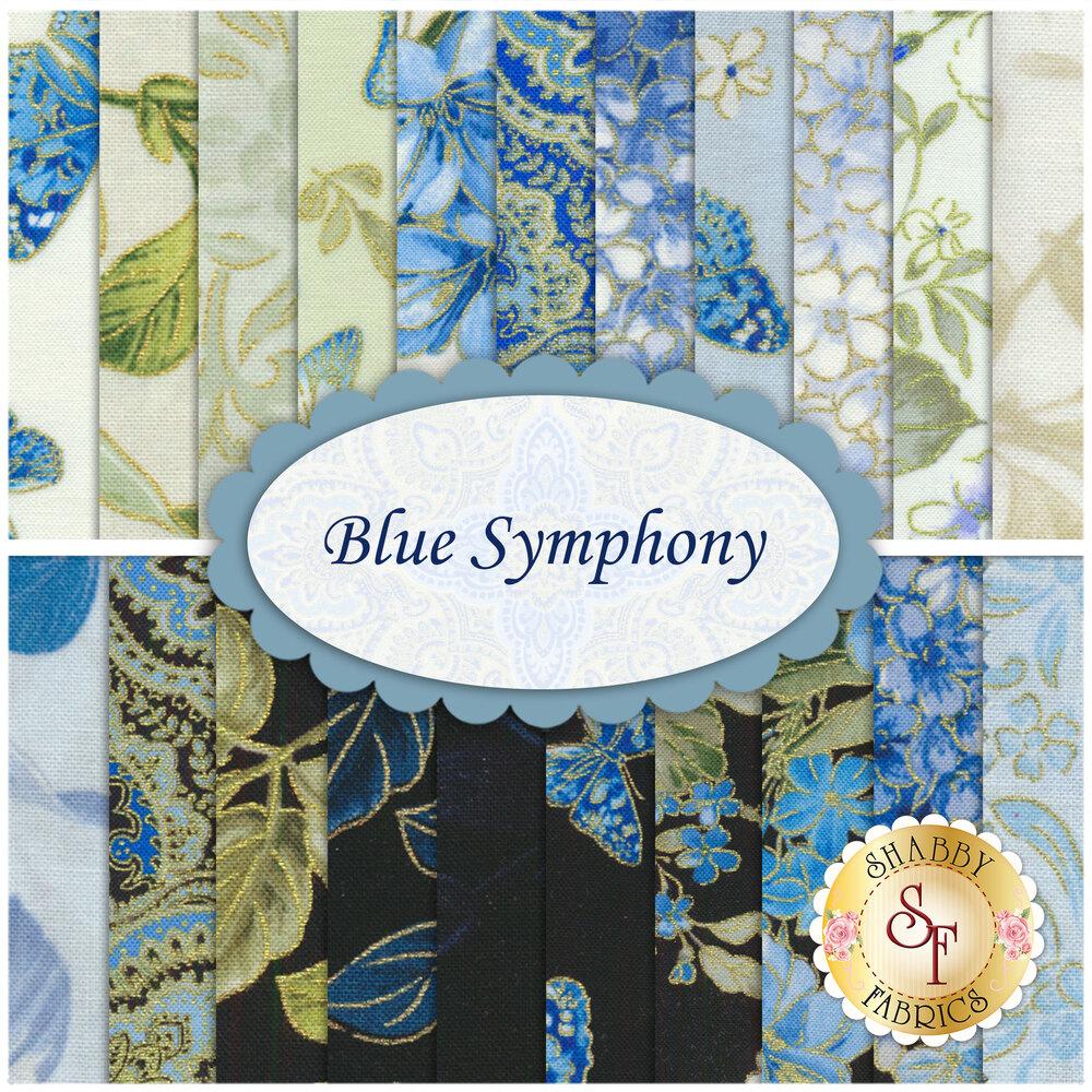 Blue Symphony  22 FQ Set by Kanvas Studios for Benartex Fabrics