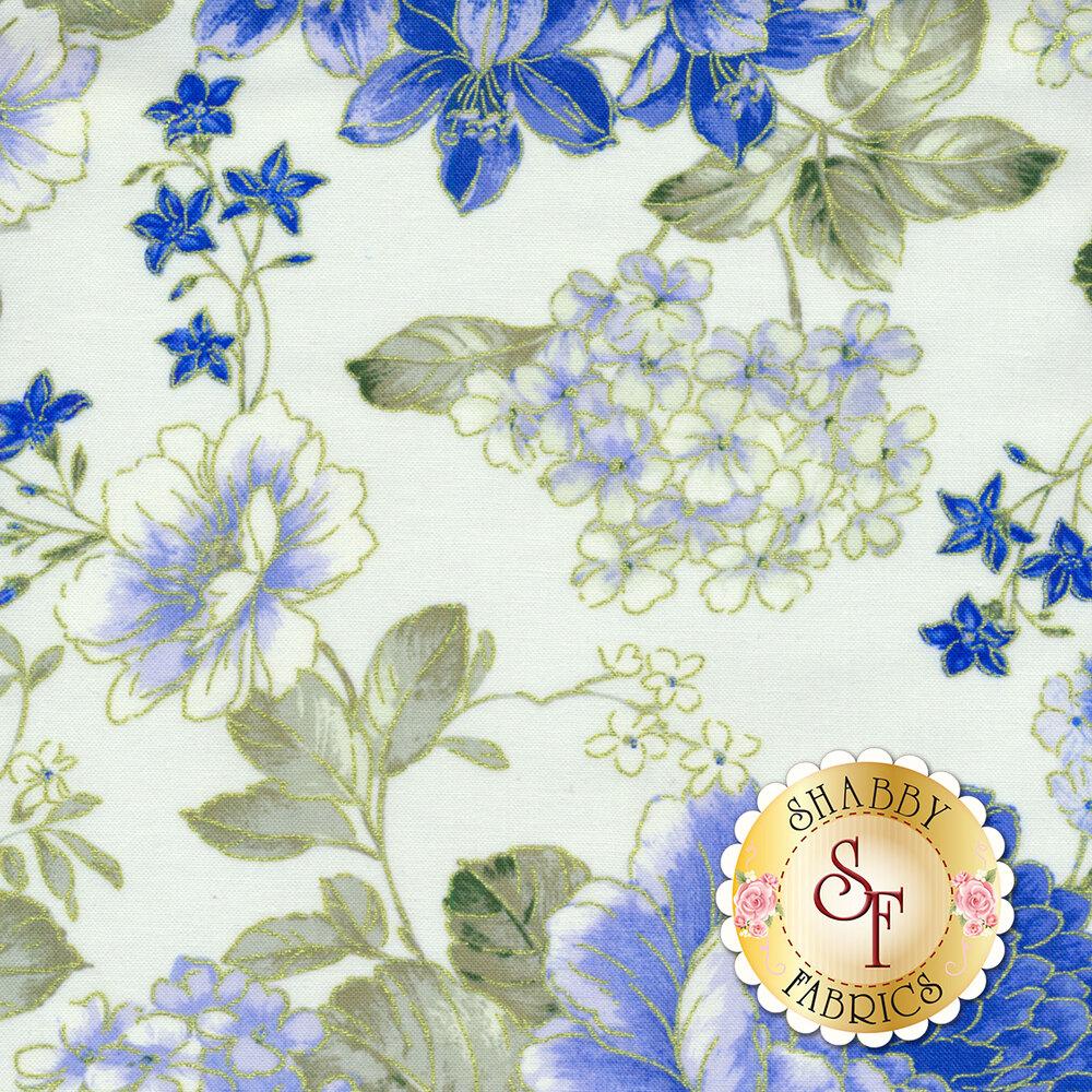 Blue Symphony 7788M-07 by Kanvas Studios for Benartex Fabrics