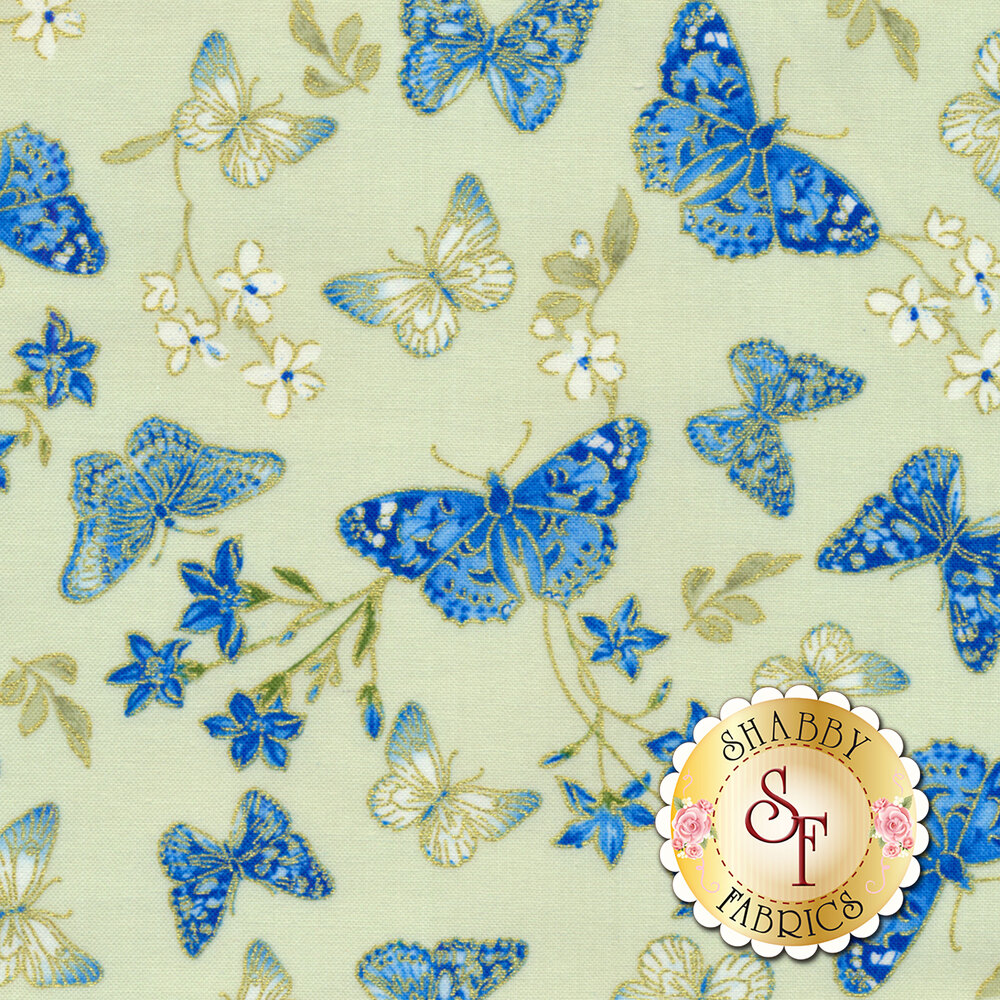 Blue Symphony 7790M-04 by Kanvas Studios for Benartex Fabrics
