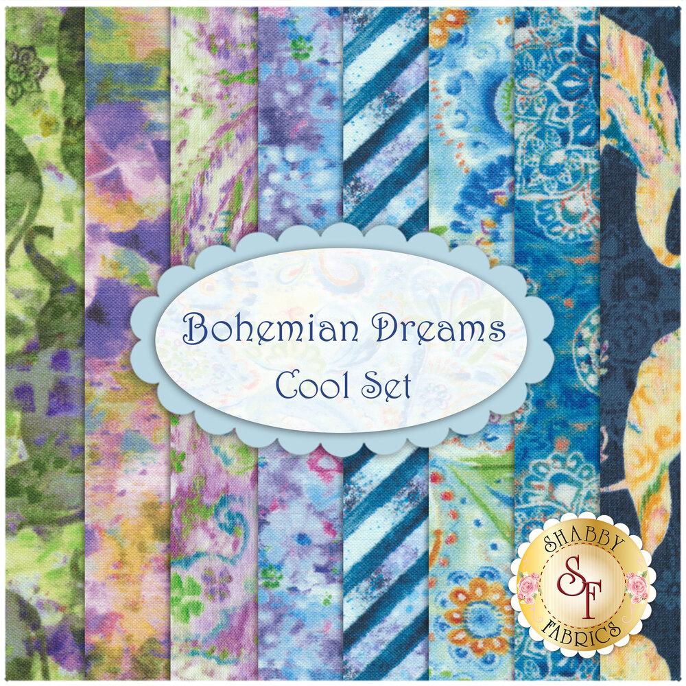Bohemian Dreams  8 FQ Set by Wilmington Prints