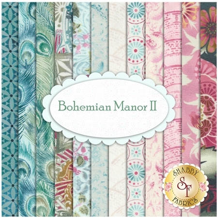 Bohemian Manor II  12 FQ Set by In The Beginning Fabrics