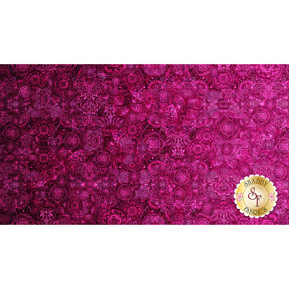 Bohemian Rhapsody 26956-PV Raspberry Beret by Quilting Treasures Fabrics