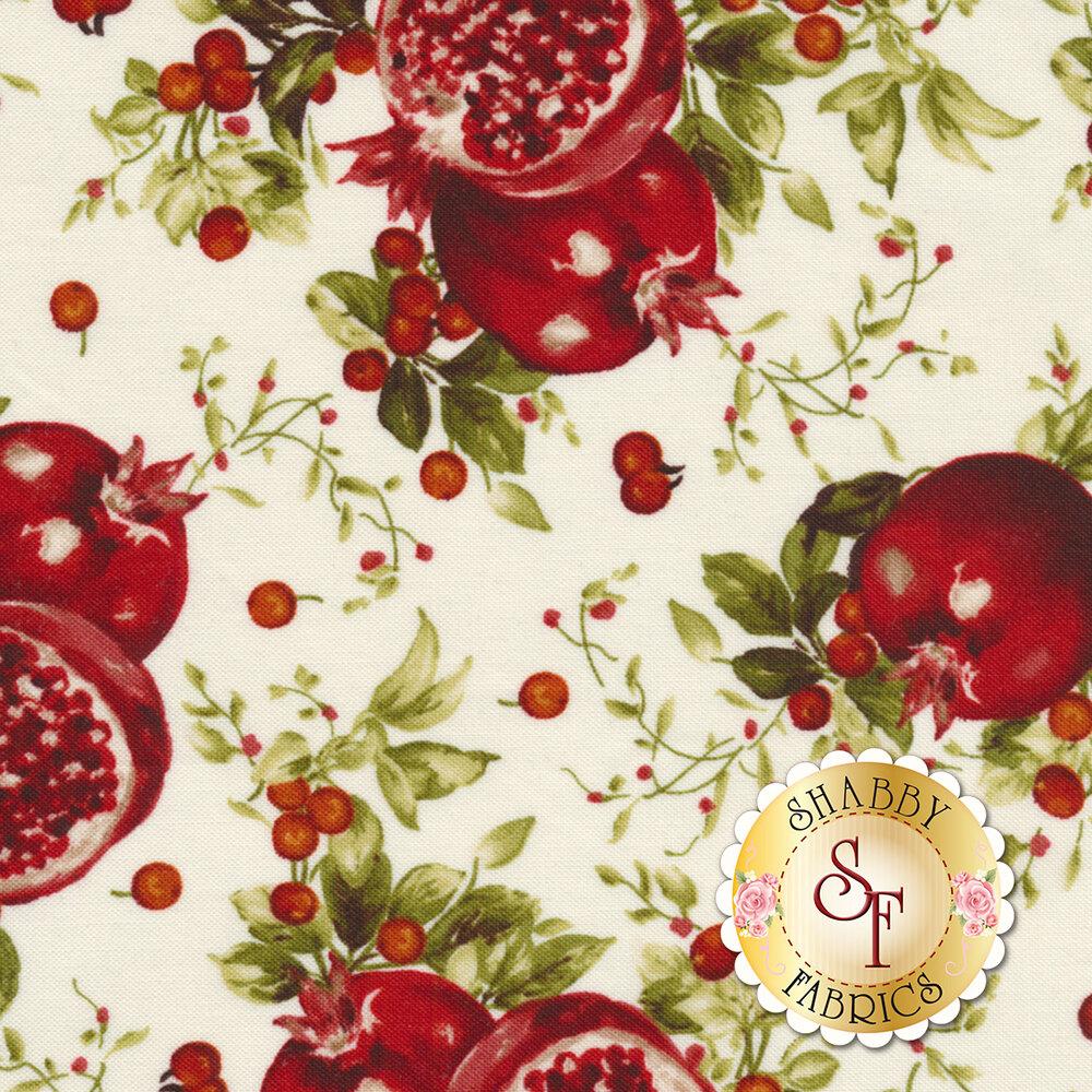 Bountiful 9301-E Cream Pomegranates by Maywood Studio