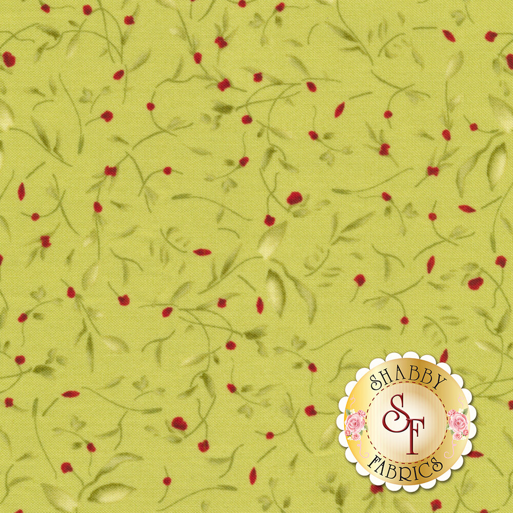 Bountiful 9304-G Soft Green Little Vines by Maywood Studio