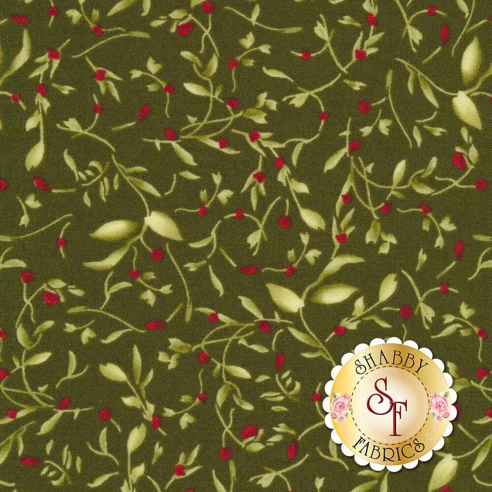 Bountiful 9304-G2 Green Little Vines by Maywood Studio