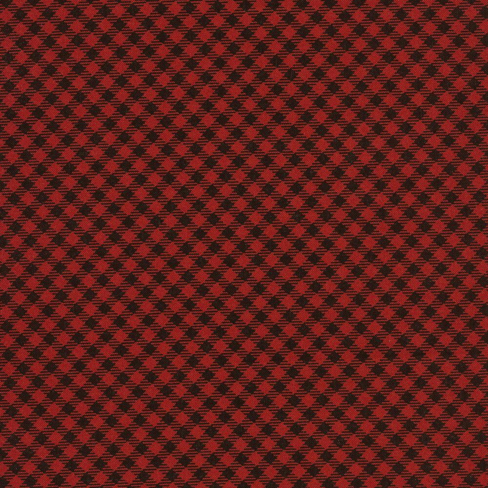 Red and Black Gingham Design    Shabby Fabrics