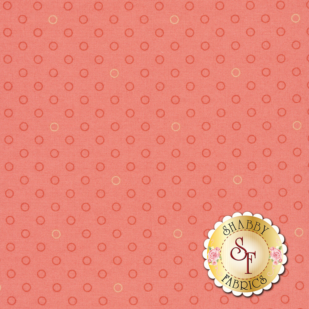 Tonal light pink and dark pink rings on a pink background | Shabby Fabrics