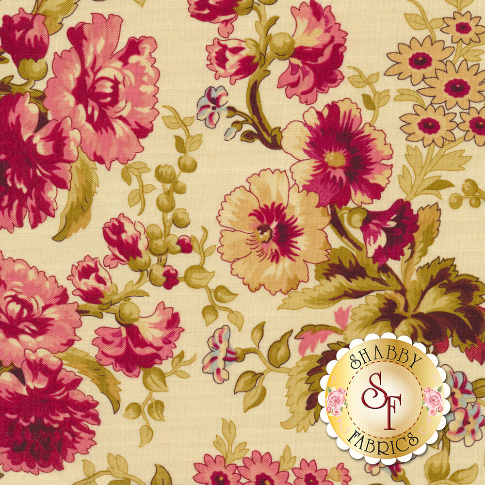 Bricolage 98643-137 Large Floral Ivory by Wilmington Prints