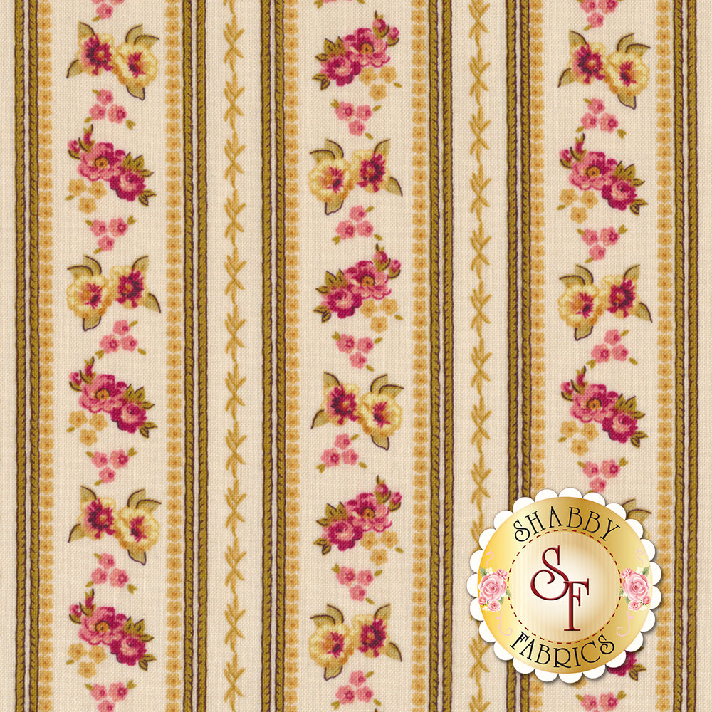 Bricolage 98644-113 Ticking Stripe Ivory by Wilmington Prints