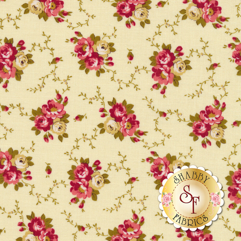 Bricolage 98645-132 Floral Bouquet Ivory by Wilmington Prints