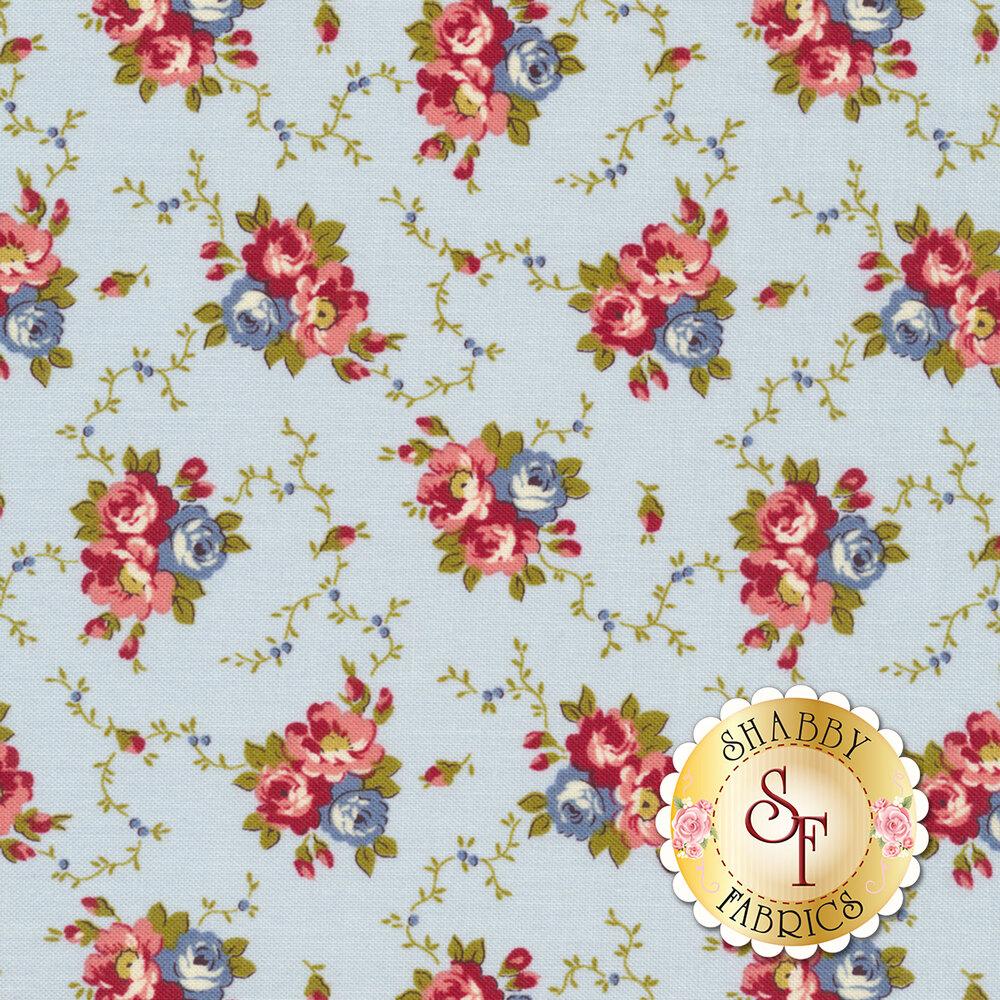 Bricolage 98645-434 Floral Bouquet Blue by Wilmington Prints