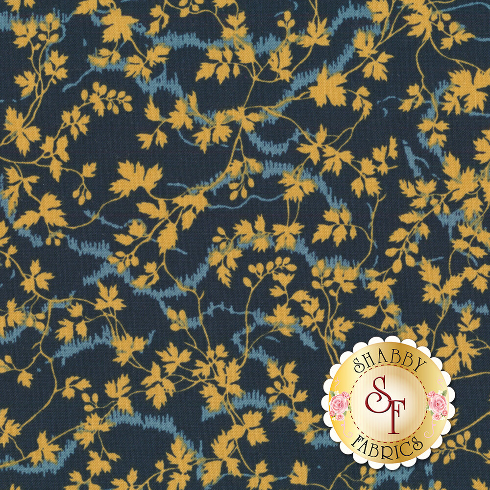 Bricolage 98648-424 Leaves & Vines Navy by Wilmington Prints REM