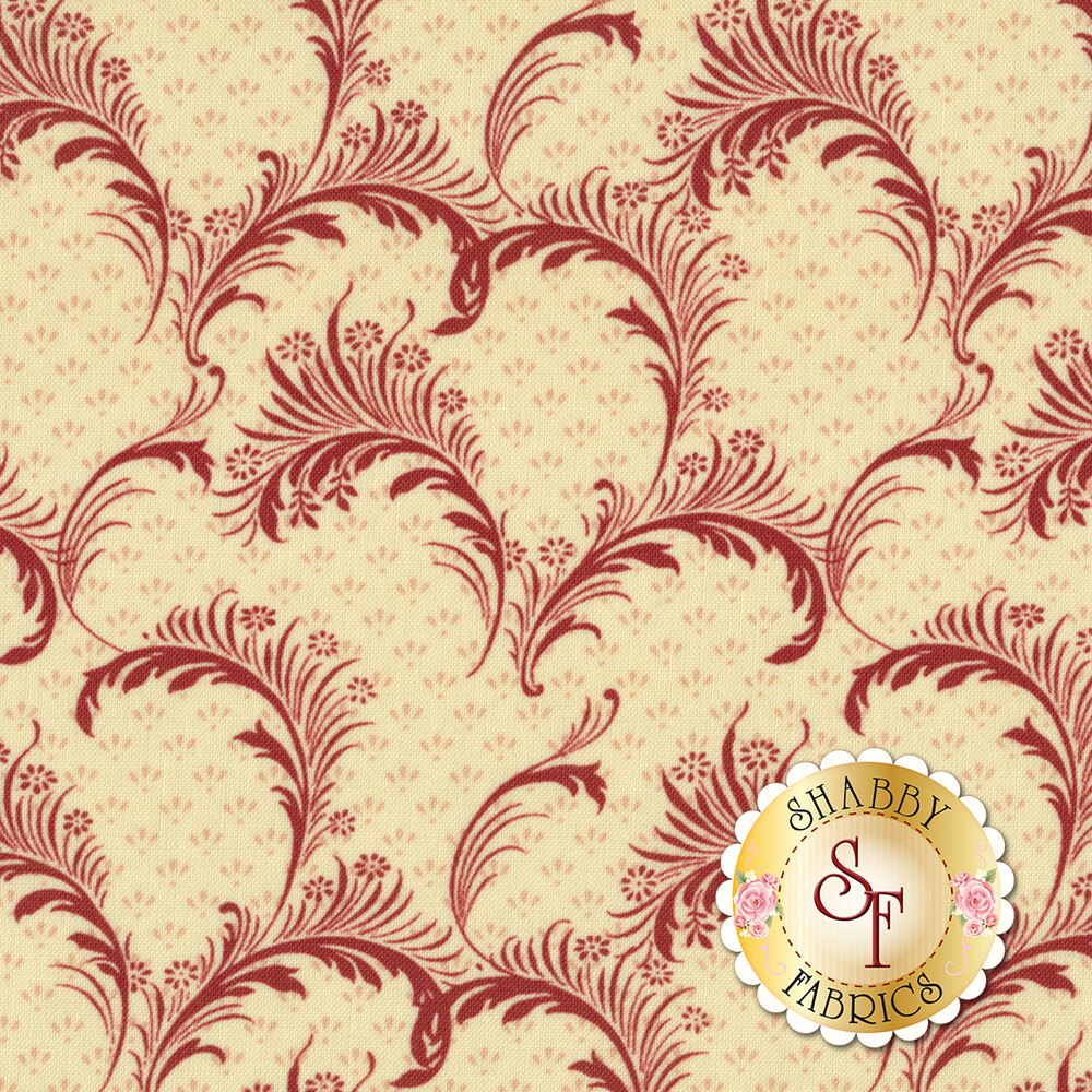 Bricolage 98649-133 Plumes Ivory/Red by Wilmington Prints