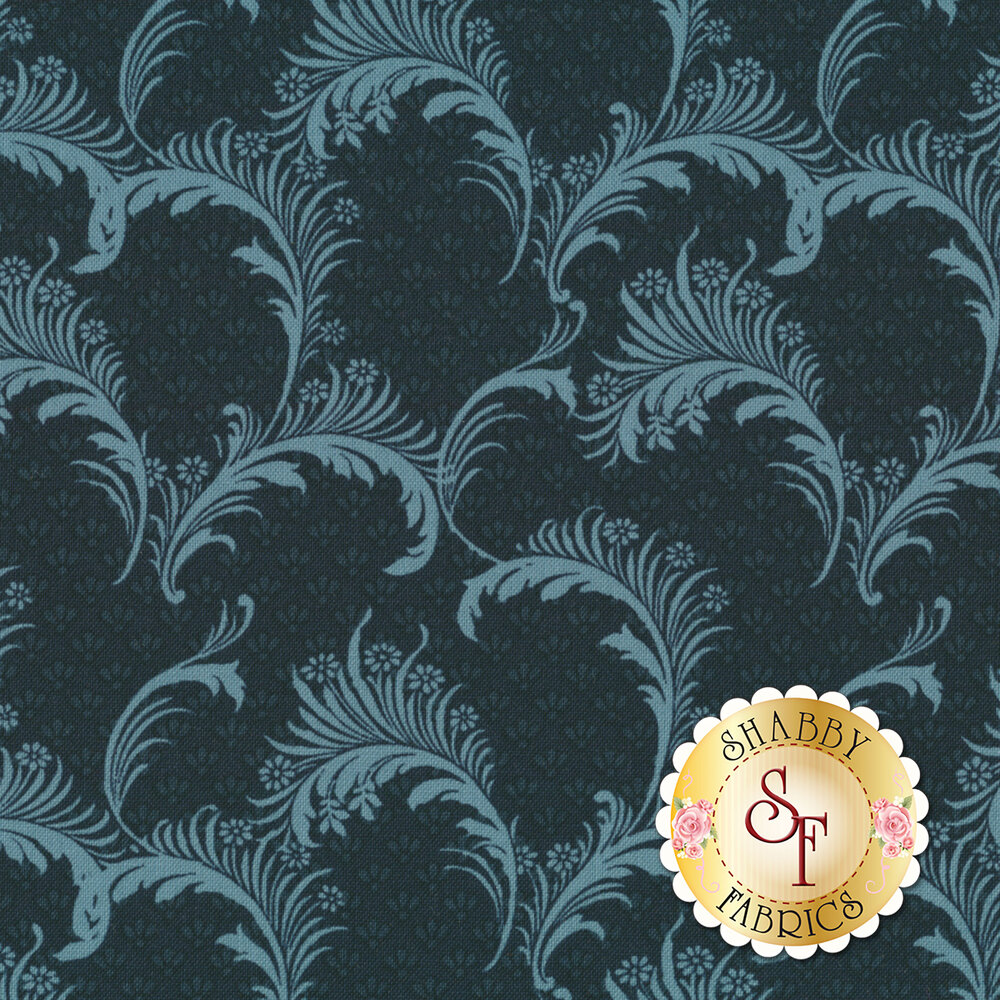 Bricolage 98649-444 Plumes Navy by Wilmington Prints