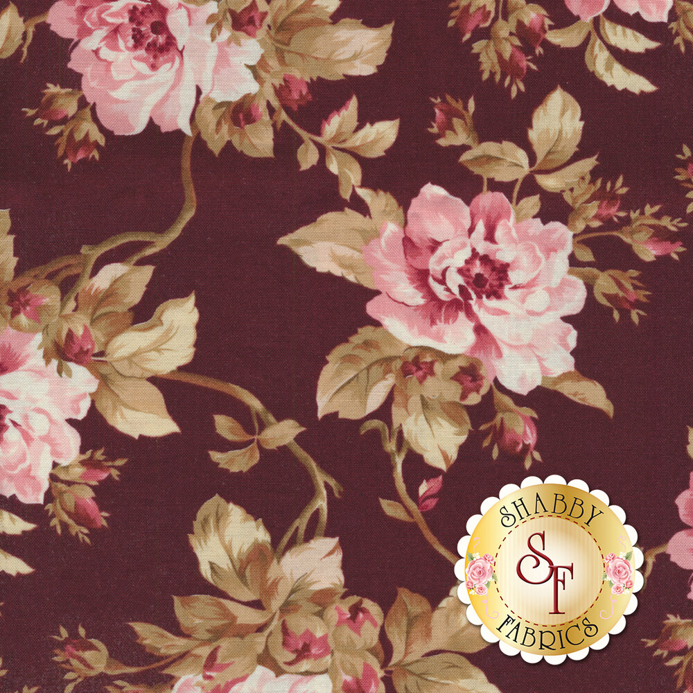 Burgundy & Blush 9360-M Available at Shabby Fabrics
