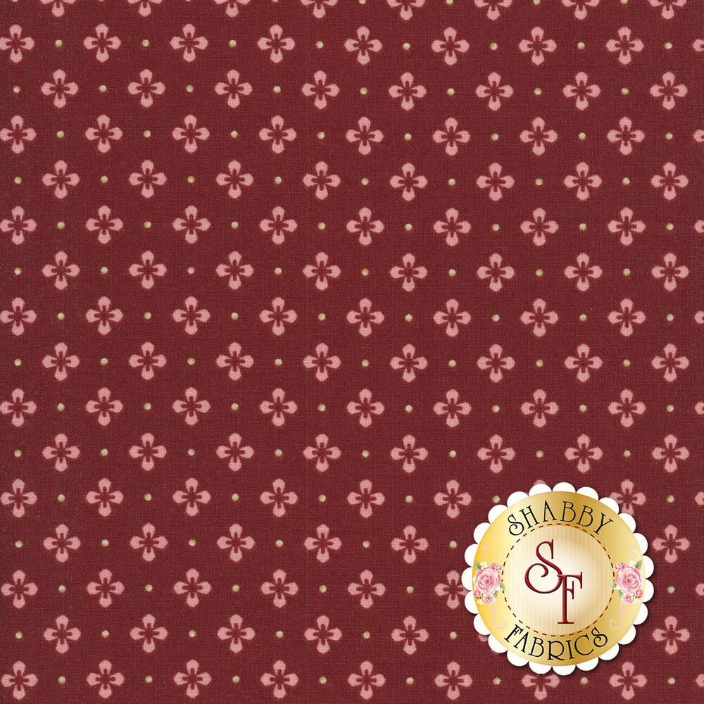 Burgundy & Blush 9366-M Available at Shabby Fabrics
