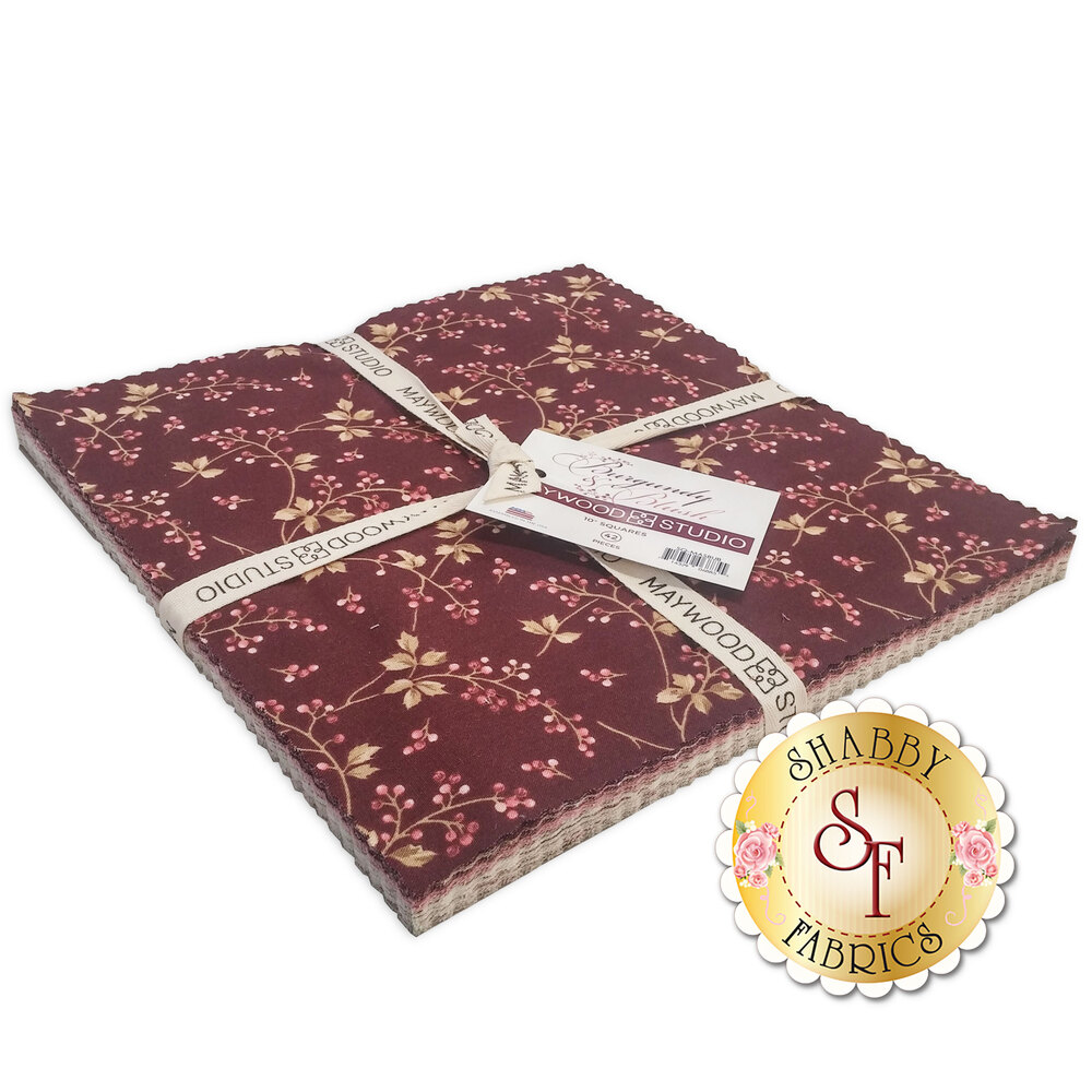 "Burgundy & Blush  10"" Squares by Maywood Studio now available"