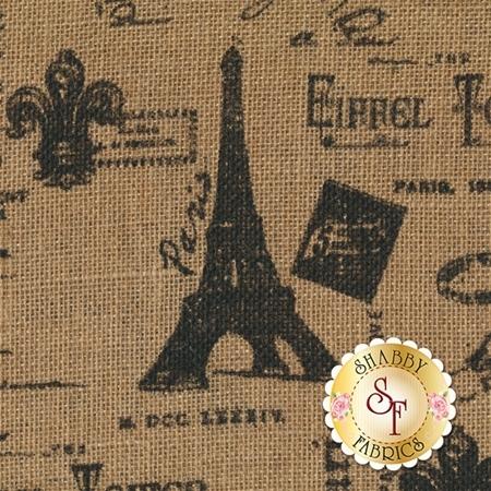 Burlap Paris Eiffel Tower 45935-110038 by Springs Creative