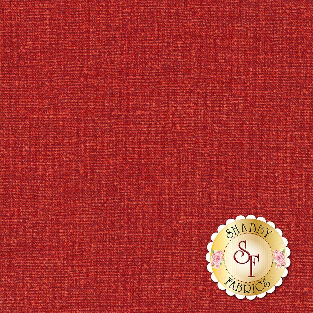 Tonal red textured fabric | Shabby Fabrics