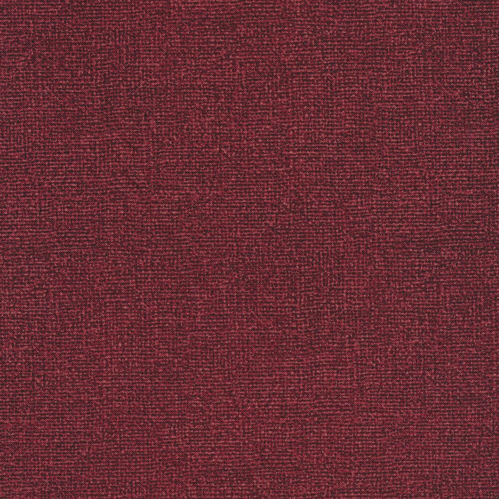 Wine red burlap textured fabric | Shabby Fabrics