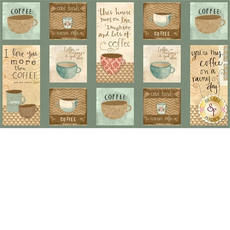 But First, Coffee! 54520-421 Craft Panel Multi by Katie Doucette for Wilmington Prints