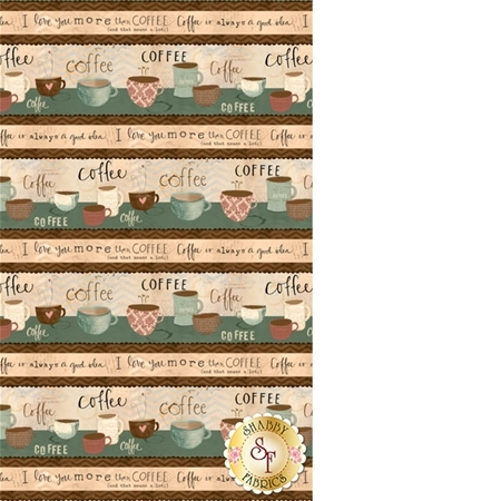 But First, Coffee! 54522-142 Repeating Stripe Multi by Katie Doucette for Wilmington Prints