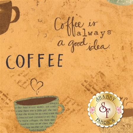 But First, Coffee! 54523-241 Coffee by Katie Doucette for Wilmington Prints