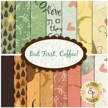 But First, Coffee!  15 FQ Set by Katie Doucette for Wilmington Prints