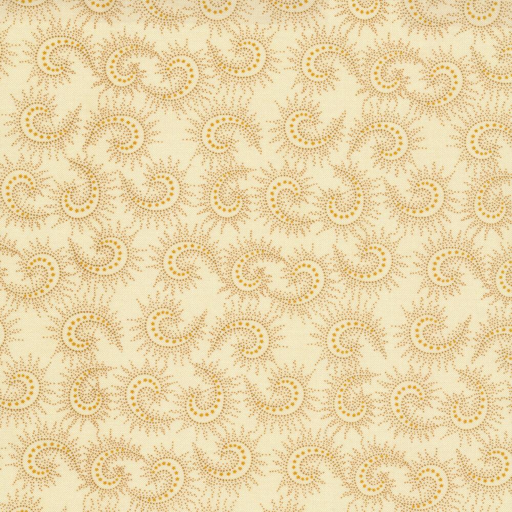 Tonal cream spiked paisley | Shabby Fabrics