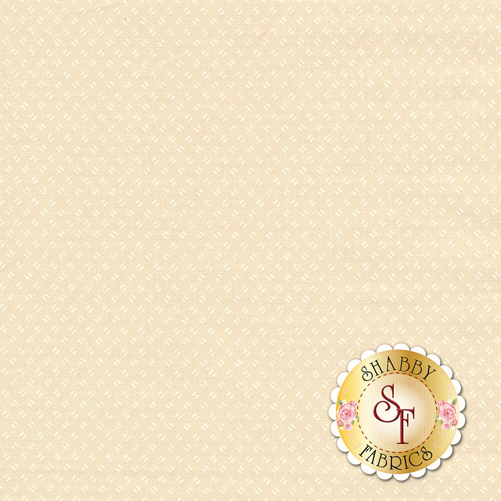 White ticks on cream | Shabby Fabrics