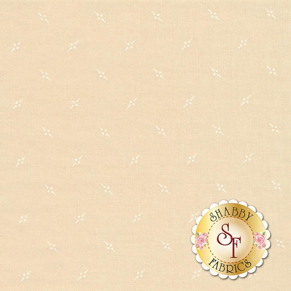 White ditsy design on tan | Shabby Fabrics