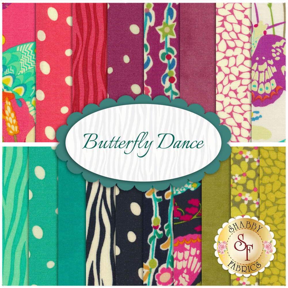 Butterfly Dance 18 FQ Set from Windham Fabrics