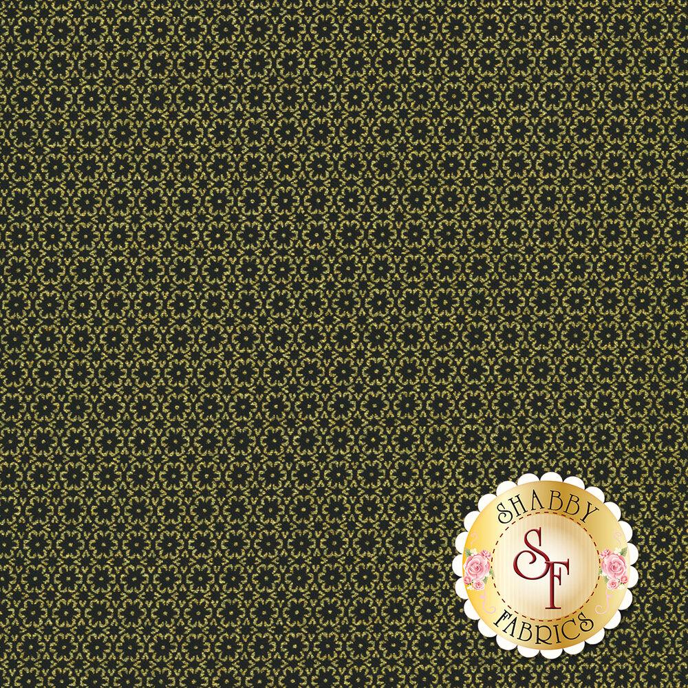 Butterfly Jewel 8803M-12 Mini Floral Foulard Black by Benartex Fabrics REM