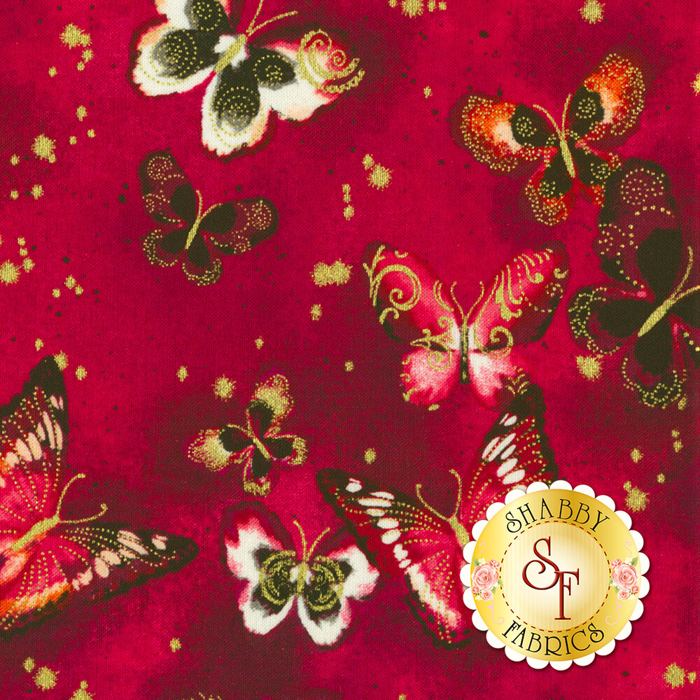 Butterfly Jewel 8860M-26 for Benartex Fabrics