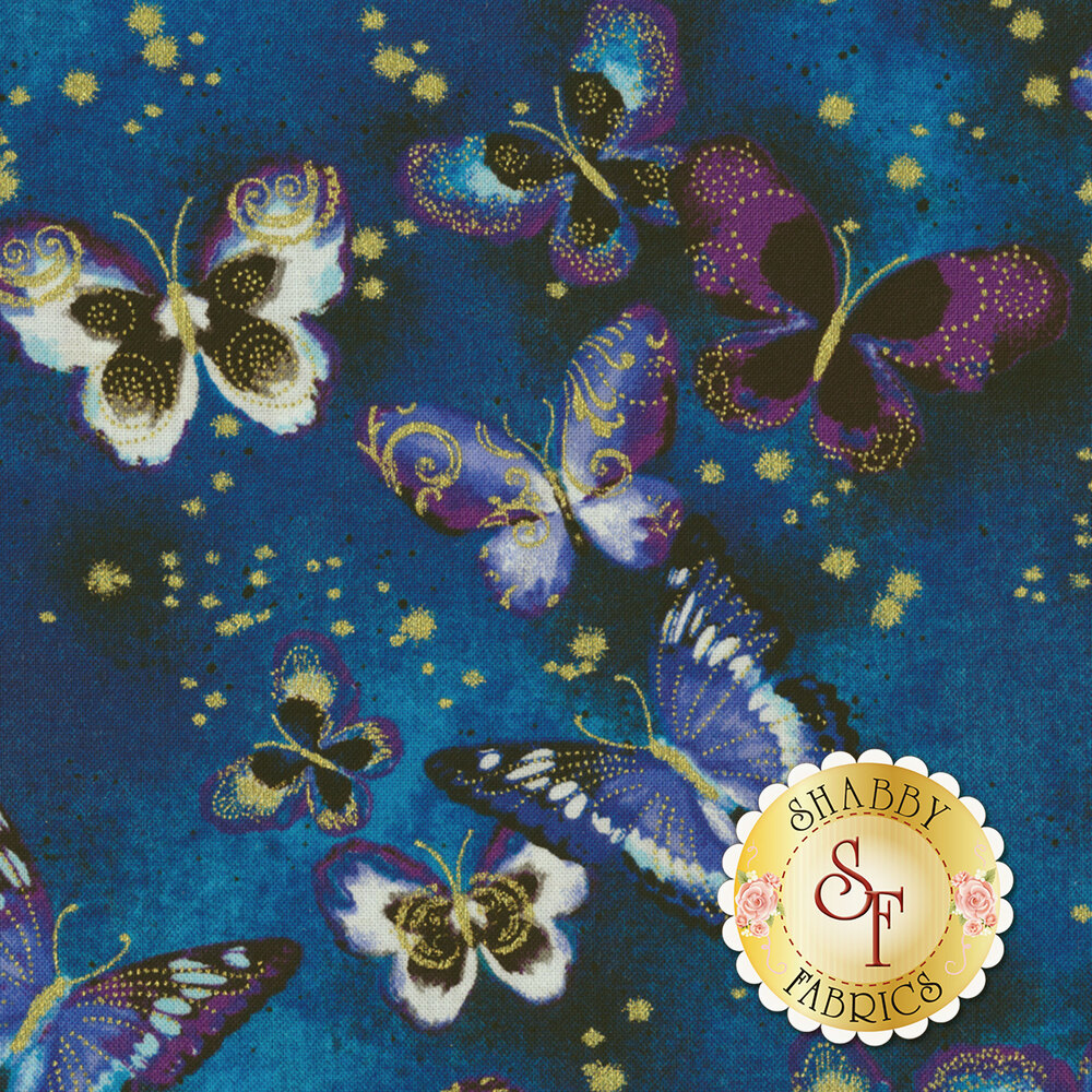 Butterfly Jewel 8860M-55 for Benartex Fabrics