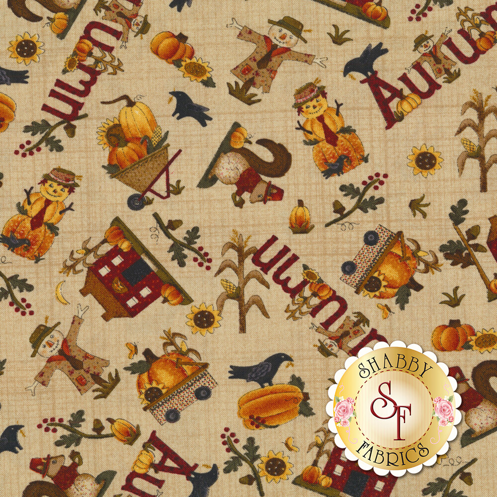 Buttermilk Autumn 2273-34 by Henry Glass available at Shabby Fabrics