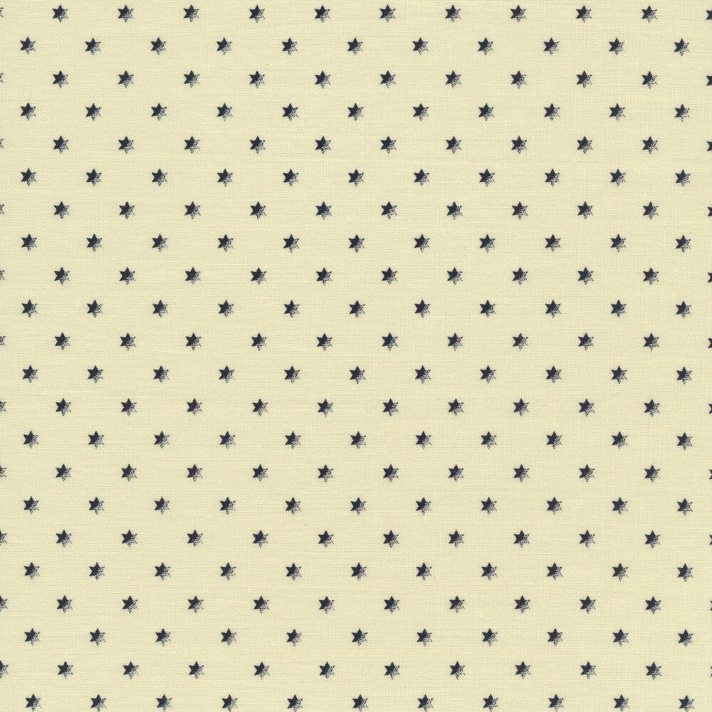 Navy stars on a cream background