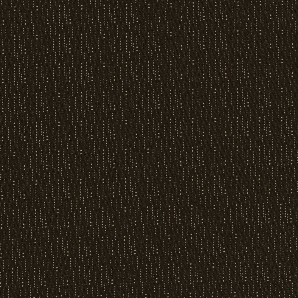 White dots and lines on a black background | Shabby Fabrics