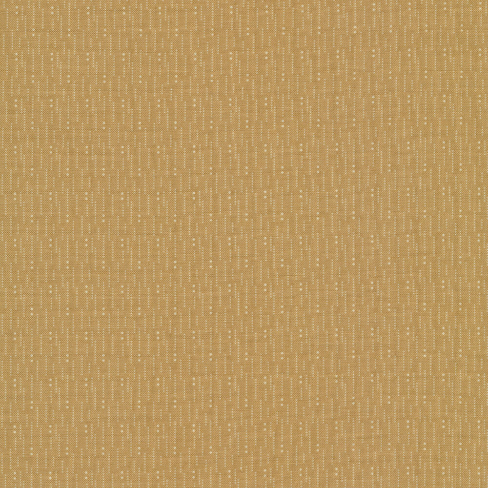 Light tan lines and dots on a tan background | Shabby Fabrics