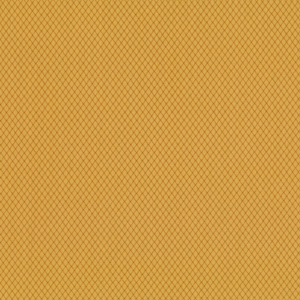 Dark orange diamond patterns on an orange background | Shabby Fabrics