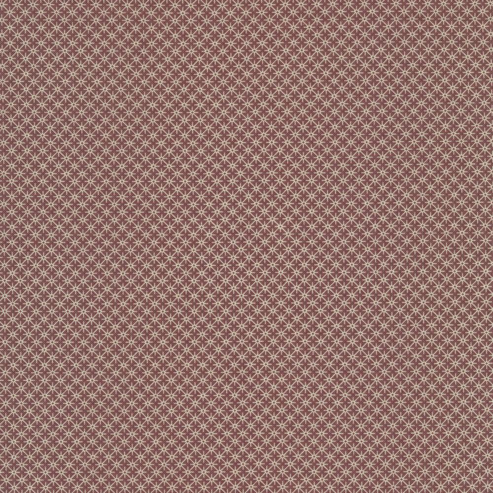 White touching stars on a purple background | Shabby Fabrics