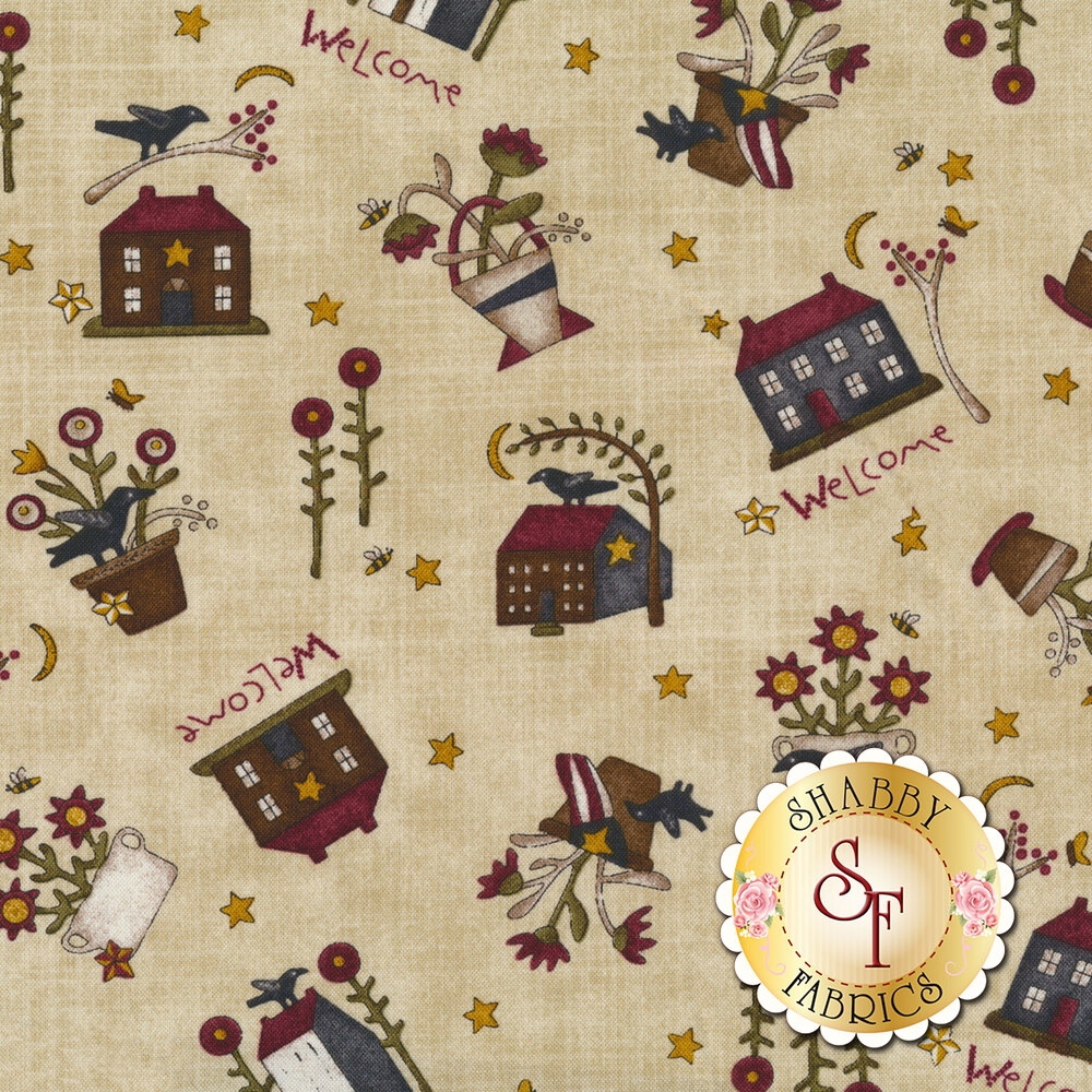 Buttermilk Blossoms 2104-46 for Henry Glass Fabrics
