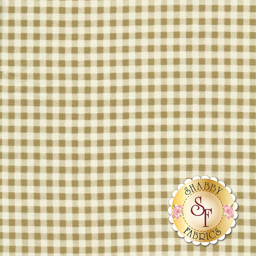 Classic tan checkered pattern | Shabby Fabrics
